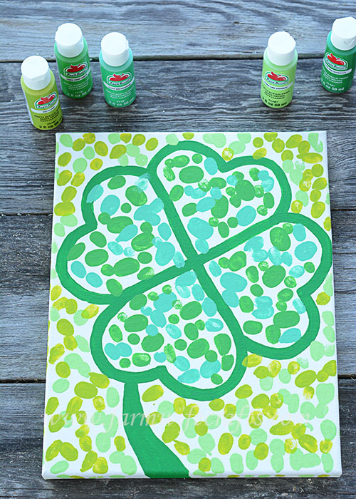Are you looking for a craft to make with your kids this St. Patrick's Day that you can enjoy year after year. This Fingerprint Four Leaf Clover Canvas is just the thing, plus it will look adorable hanging on your wall.