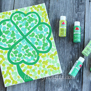Fingerprint Four Leaf Clover Canvas
