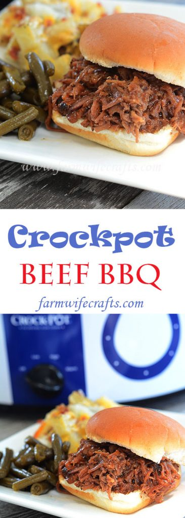 If you are looking for a simple beef bbq recipe, then look no further because this Crockpot Beef BBQ is your ticket to an easy weeknight meal.