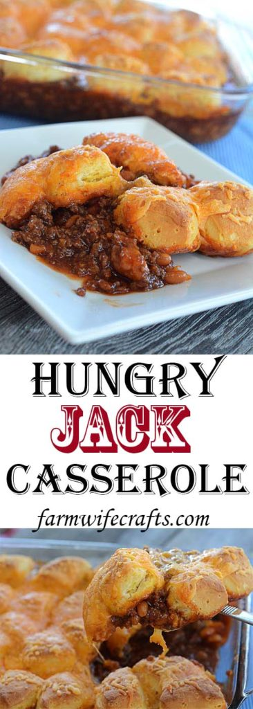 Are you looking for an easy to transport harvest meal, or something that is good anytime?  This recipe for Hungry Jack Casserole is so easy to make and delicious it may become your next go-to meal!