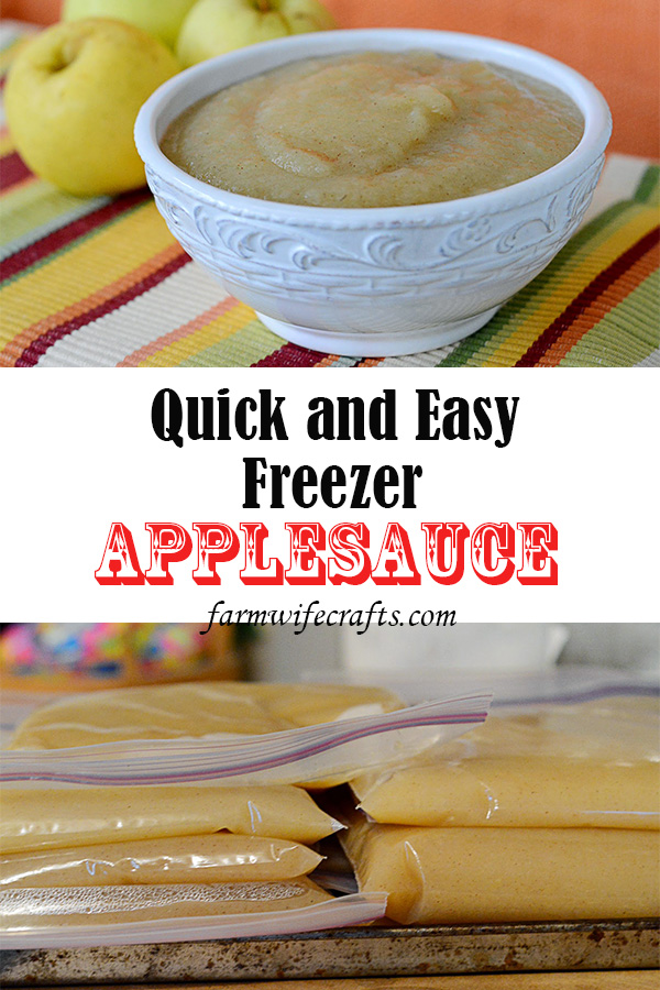 Are you looking for a quick and easy freezer applesauce recipe? Look no further!