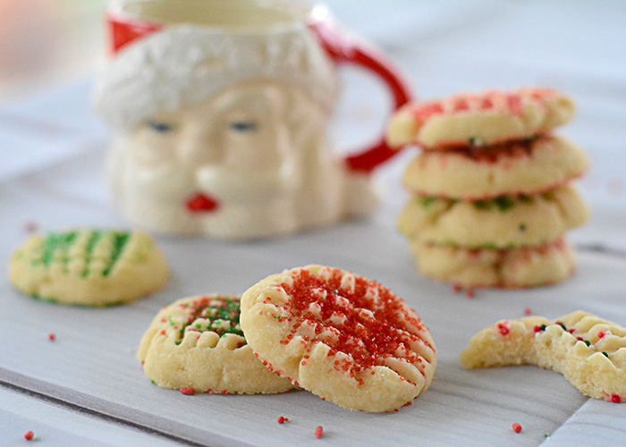 These Whipped Shortbread Christmas Cookies are fun to make and decorate for the season!