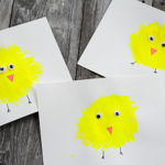 Easy Chick Fork Painting