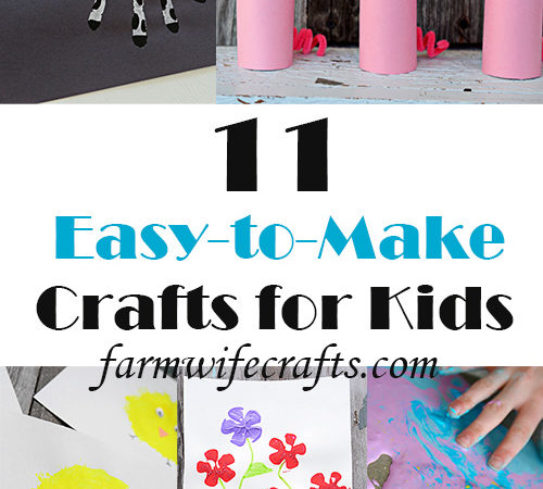 """Are your kids (and you) starting to get a little stir crazy during the quarantine? I've compiled 11 of my easiest crafts that use """"ingredients"""" you might already have tucked away somewhere!"""
