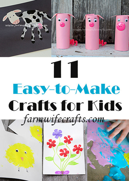"Are your kids (and you) starting to get a little stir crazy during the quarantine?  I've compiled 11 of my easiest crafts that use ""ingredients"" you might already have tucked away somewhere!"