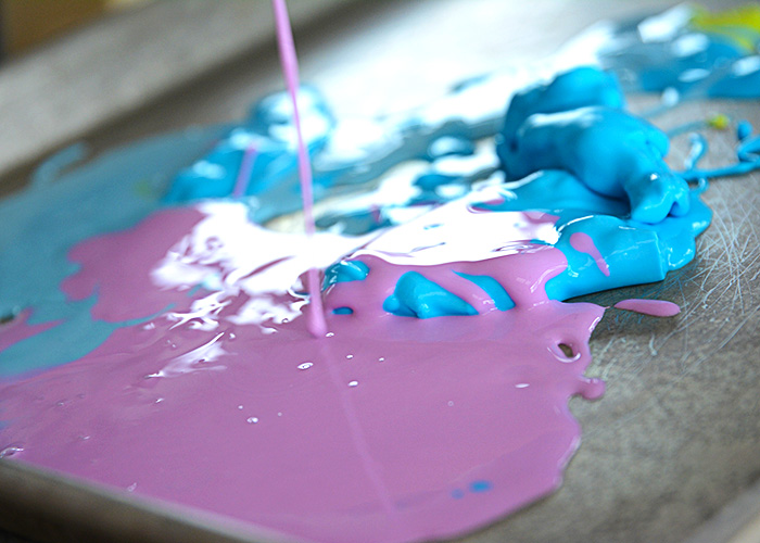 If you're looking for a simple craft to make to keep your kids entertained with items you have on hand then look no further than this Rainbow Oobleck.