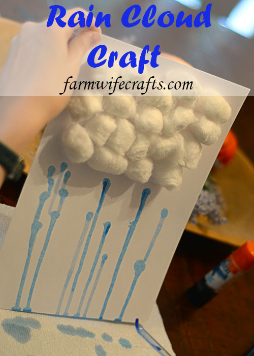 As I type this it's the first day of Spring, but it certainly doesn't feel like it because it's rainy and gloomy here so I guess this Rain Cloud Craft is perfect!