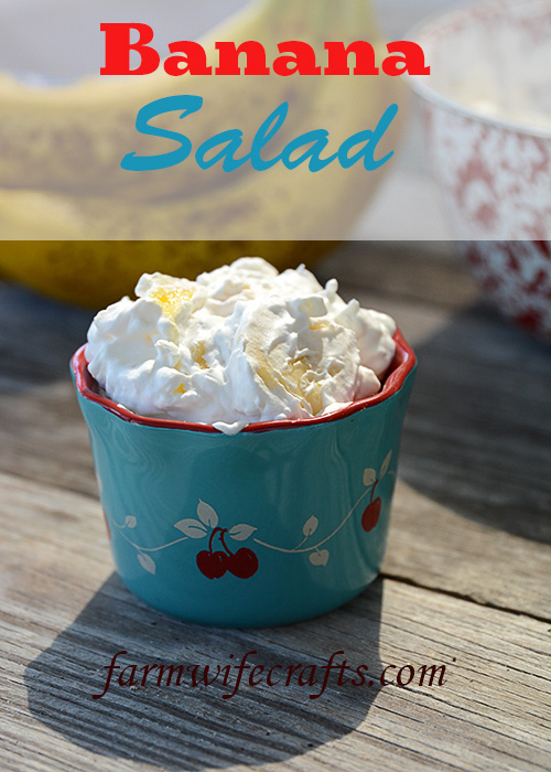 Do you love simple recipes with items that you may already have on hand?  Then this banana salad recipe is for you!