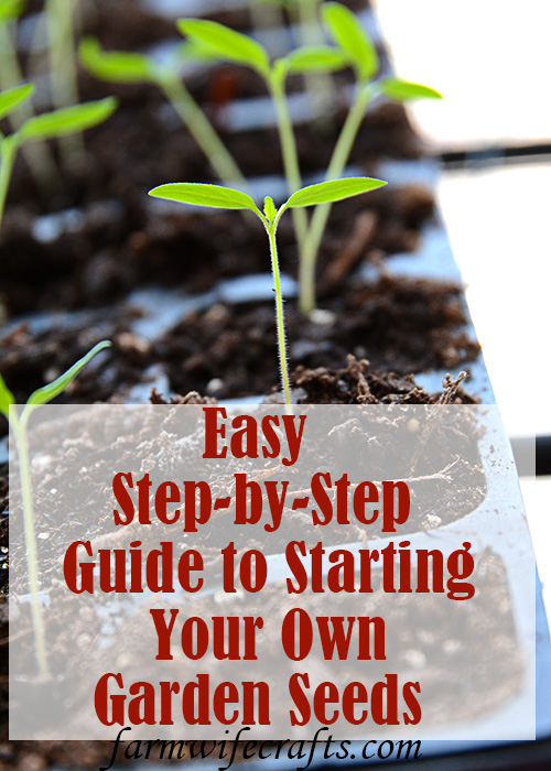 Are you thinking of starting a garden?  Or, maybe you've had a garden for the last several years, but are considering starting your own seeds?  Starting Garden Seeds Indoors doesn't have to be complicated, actually it's extremely easy to do.  You don't have to have fancy equipment either.  In this post I'm going to give you some tips and share just how easy it is to start your own garden seeds indoors!
