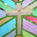 Looking for a fun, easy craft that may make your kids think you've lost your mind? This Stained Glass Window Painting might be what you need in your life!