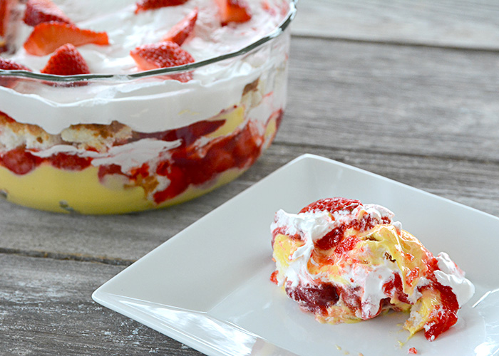 "Who loves anything with strawberries?  If you answered, ""yes,"" then you need to try this recipe for Strawberry Trifle."