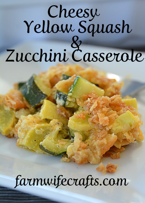 That zucchini in your garden will be ready before you know it.  One zucchini plant seems to produce about 1,459 zucchinis, so, if you're like me, you're probably looking for more recipes to use up all that zucchini and yellow squash!  This recipe for cheesy yellow squash and zucchini casserole is definitely a new family favorite!