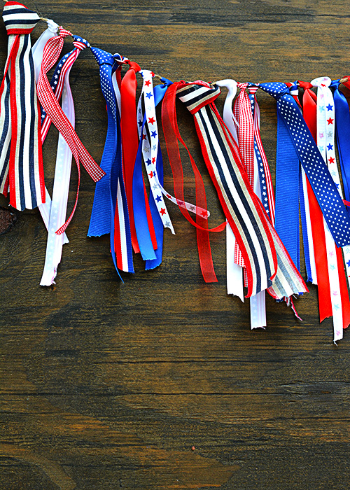 It's always fun to create your own DIY decor for the home.  I made this Red, White, & Blue Bunting to add some color to our living room for the 4th of July, but I like it so much I may never take it down!