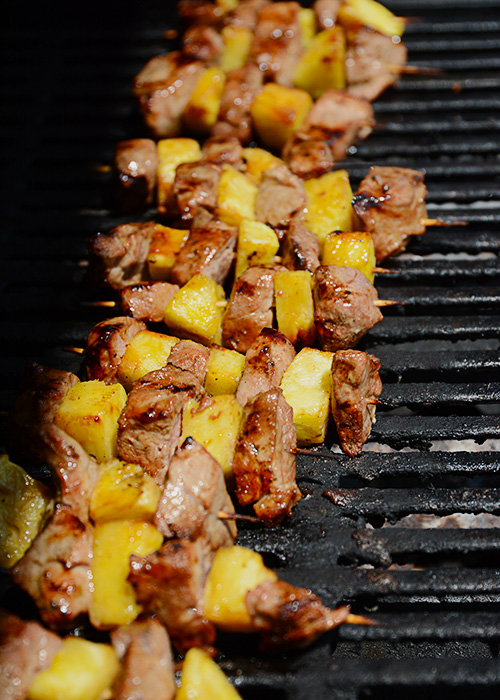 Summer means grilling and grilling means less mess in the kitchen.  My absolute favorite meal is a toss up between everything coming from the garden and everything being prepared on the grill!  This recipe for Grilled Teriyaki Pork and Pineapple Skewers is the perfect summertime meal!