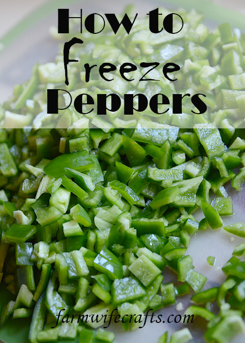 I love cooking with peppers. They add so much flavor to any dish! I love freezing them, so I have the option to use them any time of the year! You won't believe how easy it is to freeze peppers, so you can enjoy them anytime.