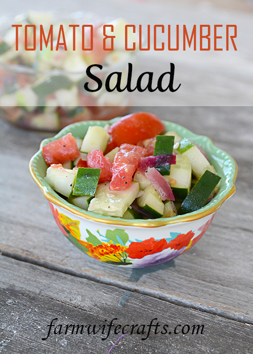 There's nothing like the fresh taste a salad that comes straight from the garden. This Tomato Cucumber Salad tastes great all year long, especially when the main ingredients come straight from your very own garden!