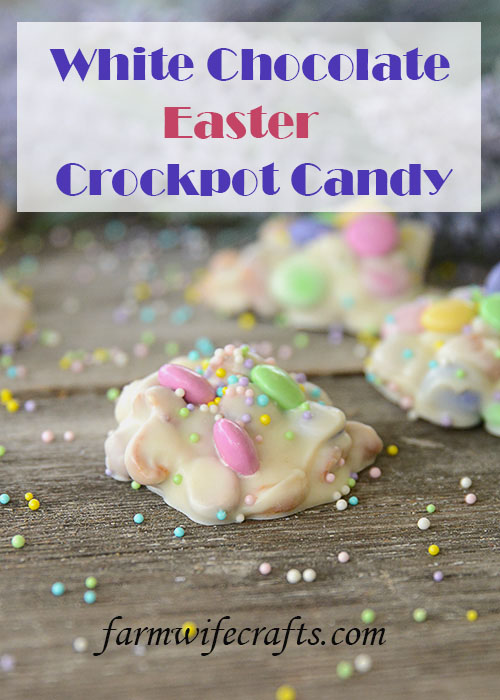Easter is just around the corner and while we may be celebrating it a little differently this year with the quarantine and social distancing, it doesn't mean that we still can't enjoy the day!  This Easter Crockpot Candy is so easy to make and only takes a few ingredients and a few minutes of your time!