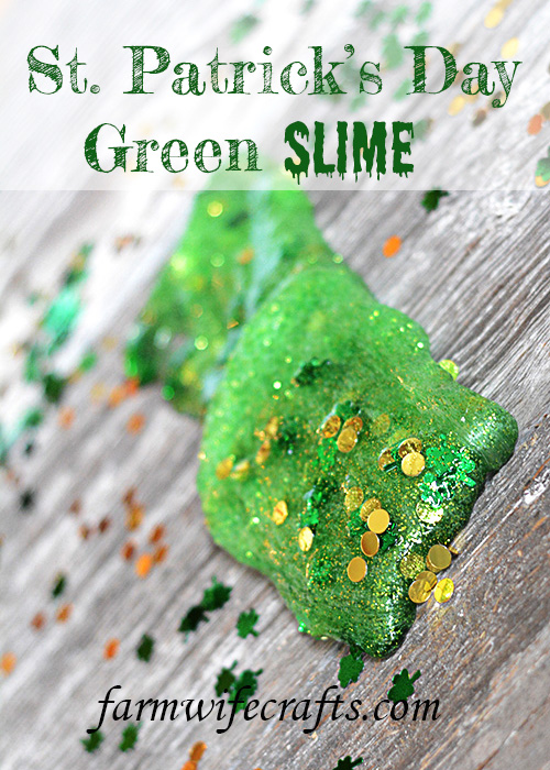 Are you looking for a green craft to celebrate St. Patrick's Day with your kids or students?  This St. Patrick's Day Green Slime is easy to whip up with just a few household ingredients.